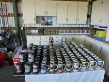 Collection of Budweiser & Other Brand Steins: Holiday & Baseball & Misc. Steins