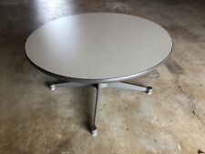 HERMAN MILLER EAMES 30 X 16  INCH ROUND COFFEE TABLE