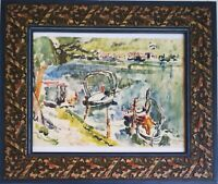 """Quadro acquarello (watercolor) Annemarie Oppenheim (1904-1991),"""" Lugano lago"""""""
