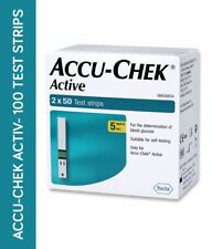 Accu-Chek Active Strips, Pack of 100 For Glucose Test For diabetic  Exp 2021-01