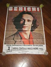 POSTER,MANIFESTO,1989,ROBERTO BENIGNI,BOLOGNA FESTA DELL'UNITA' PCI,COMUNISMO
