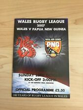 Wales RL  v Papua New Guinea-28th October 2007