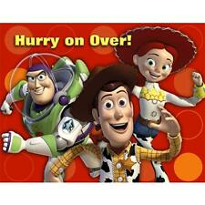 birthday child toy story multi color greeting cards invitations