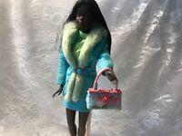 Barbie Doll Purse OOAK Pink & Blue Handbag/Purse