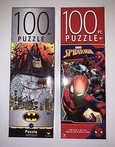 2 Kids Puzzles. Batman 100 Piece Puzzle And Spider-Man 100 Piece Puzzle.