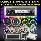 FOR HARLEY TOURING BAGGER SOUND SYSTEM KIT AMPLIFIER SET KICKER 6.5