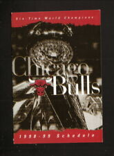 Chicago Bulls--1998-99 Pocket Schedule--AT&T