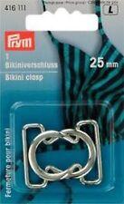 ( 3,60€/ 1 unidad) cierre de bikini METAL 25mm plata de color Bikini CIERRE Pry