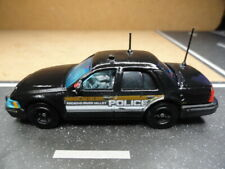 MATCHBOX POLICE FORD CROWN BLACK SLICK TOP RECACHO RIVER VALLEY CUSTOM UNIT