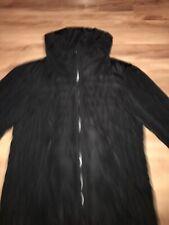 Next Black Padded Coat Size 18 Hidden Hood Side Zips Stunning