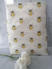 Book Sleeve. Cover. Holiday book Pouch. Book protector.  Bee fabric.Handmade