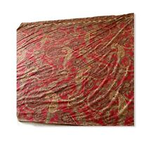 """Pottery Barn Duvet Cover Red & Green Paisley Cal King 100% Cotton 105""""W x 88"""" L"""
