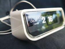 Flip clock Copal 225 blanc 24h publicitaire Mars horloge reveil vintage 70s