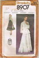 1979 Simplicity Pattern 8907 Gunne Sax 12 Maxi Prairie Dress 2 Pc Victorian Cut