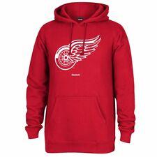 "NHL Reebok Team Color ""Jersey Crest"" Primary Logo Pullover Fleece Hoodie Men's"