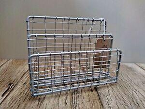 Wire industrial feel letter rack/ desk tidy