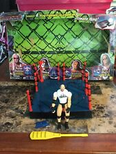 1999 Toy Biz Ring Fighters 4 Rings & Goldberg Action Figure With Original Box
