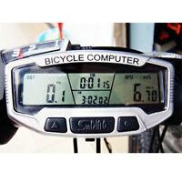 LCD Backlight Bike Computer Odometer Bicycle Cycling Speedometer Waterproof Cute