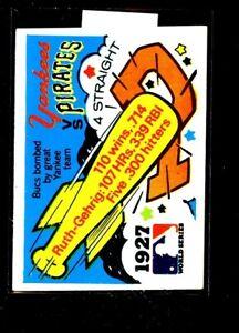 1971 FLEER #25 WORLD SERIES YANKEES/PIRATES VGEX E02708