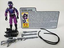*GI Joe Techno-Viper 100% complete w/ filecard Cobra Battlefield Technician 1987