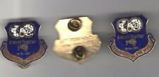 3 LIONS CLUB 1981 pin pinback tacpin mini badge a World Together Governors