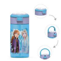 Zak Frozen Anna Elsa Leak-Proof 18oz Plastic Water Bottle w/ Straw for Kids