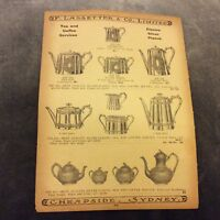 Antique Catalogue Page - Trays, Tea & Coffee Services