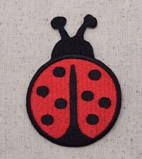 """Large Ladybug 2-3/4"""" - Red/Black - Lady Bug - Iron on Applique/Embroidered Patch"""