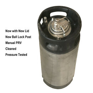 19 litre L Ball Lock Pressure tested Used Keg New Lid Posts Home Brew Beer