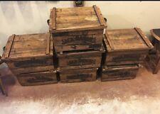 (1) Jack Daniels Ammo Box  Oak Wooden Barrel Stave Storage Bar Wine Display