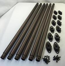 "Adjustable Antique Bronze Closet Clothes Rod Hanger System, 27"" to 48"", Qty 6"