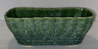 Vintage Green Planter Rectangular 27-8 Brush Pottery