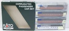 Kato 106-1701 PRR Corrugated Passenger Cars (Set of 4) NIB