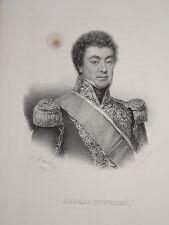 Litho Portrait AMIRAL DUPERRE LA ROCHELLE ALGER MARINE NAPOLEON EMPIRE 1836