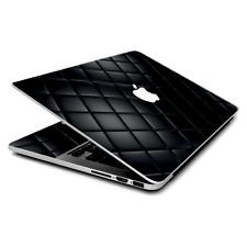 Skin Wrap for MacBook Pro 15 inch Retina  Black Leather Chesterfield