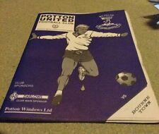 Potton United V Bourne Football Programme 1995