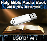 THE HOLY BIBLE AUDIO BOOK MP3 USB DRIVE - OLD & NEW TESTAMENT 70+ HOURS ENGLISH