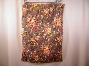 Pottery Barn Brown Standard Sham Floral Shabby Cottage Striped