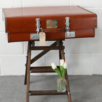 Vintage Revelation Expanding Suitcase with Key -1960's. Has Provenance - RAF.
