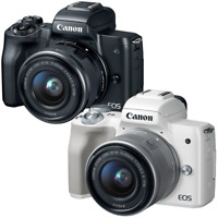 Canon EOS M50 Mirrorless Digital Camera with 15-45mm Lens Black or White