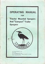Dorman ~ Trattore montato e compatto Rimorchio Sprayers ~ manuale operativo
