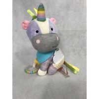 Skip Hop Plush Bandana Buddies Unicorn Baby Activity Teether Toy Rattle Crinkly