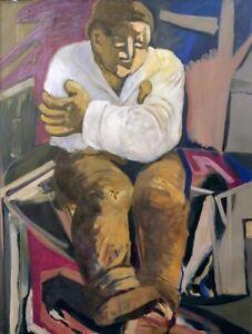 Hansen, Portrait of a Man, Oil on canvas circa 1960, Signed framed
