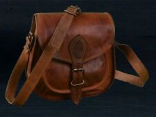 Women Vintage Brown Leather Messenger Cross Body Bag Handmade New Purse