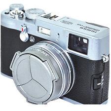 JJC ALC-X100S Hood Cap for Fuji X100 Camera auto lens cap Silver X100 X100T X70