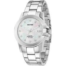 Orologio Donna SECTOR 480 R3253597501 Acciaio Madreperla Bianco Vetro Zaffiro