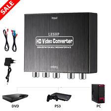 YPbPr LESHP HDMI zu RGB Component R // L Audio Adapter Konverter HD Tg Video