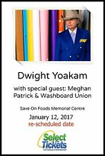 DWIGHT YOAKAM 2017 VICTORIA CONCERT TOUR POSTER - Country Honky Tonk/Rock Music