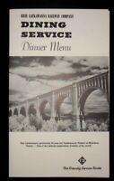 1968 Erie Lackawanna Railway Company Dinner Dining Car Menu