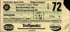 Ticket II. BL 83/84 Karlsruher SC - SG Wattenscheid 09, Stehplatz